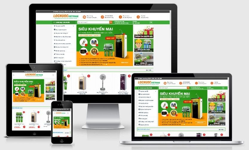 Theme WordPress May Loc Nuoc Chuan Seo