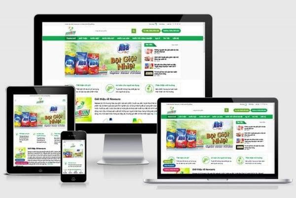 Theme Wordpress Website Ban Nuoc Tay Rua Bot Giat Anh Bia